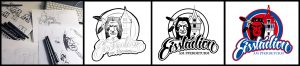 Logo design und Lettering - Eisstadion am Pferdeturm (Hannover)