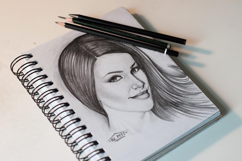 Pencil Portrait Sketch on Paper
