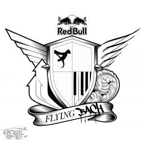 Logo Design for the Flying Steps Show Flying Bach