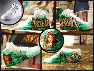 Airbrush auf Schuhen. Graffiti und Airbrush aus Hannover