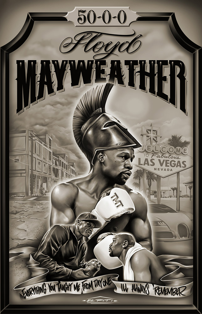Floyd Mayweather Artwork
